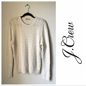 J. Crew Cable Knit Heavy Sweater